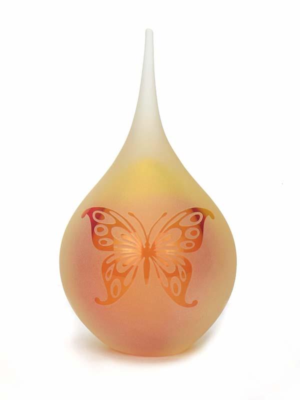 Medium Traan Urn Vlinder Frosted Rose-Goud (0.18 liter)