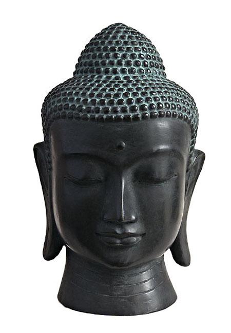 Bronzen Boeddha Hoofd Urn (3 liter)