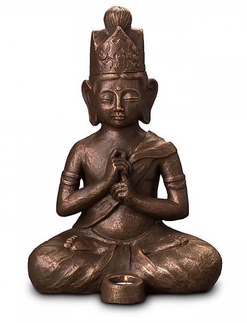 Art Dierenurn Verlichte Dai Nichi Boeddha (3.5 liter)