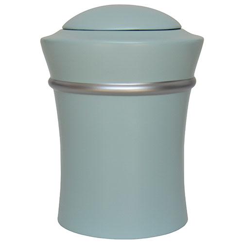 Ronde Resin Vaas Urn, zilveren sierband (3.5 liter)