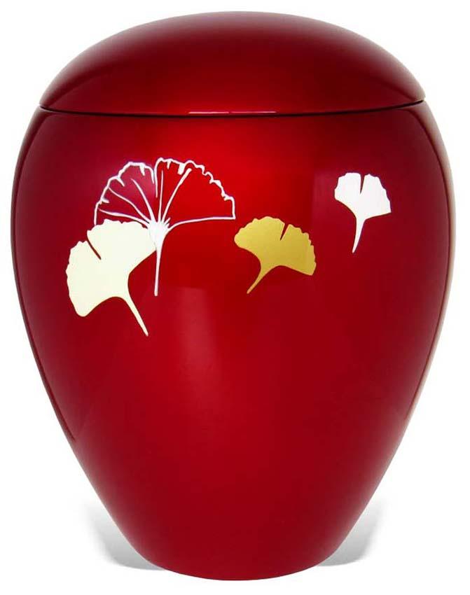 Ovale Resin Urn Ginkgo Bladeren (4 liter)