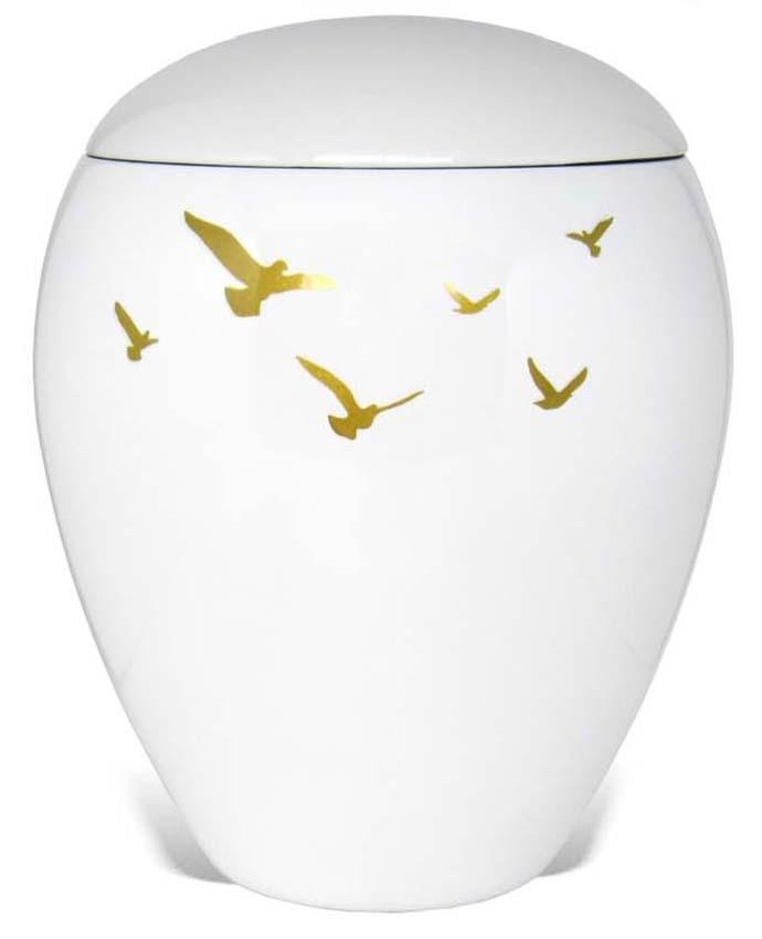 Ovale Resin Urn Vogels (5 liter)