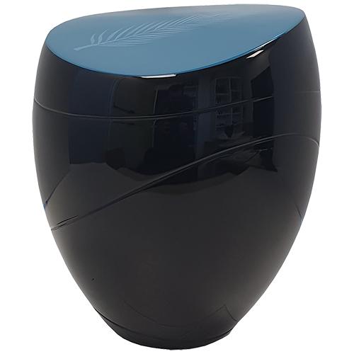 Jazz Design Urn, Blauw Deksel met Veer (3.5 liter)
