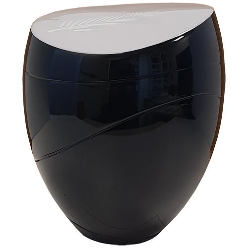 Jazz Design Urn, Grijs Deksel met Veer (3.5 liter)