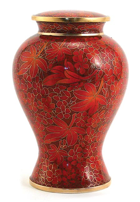 Etienne Autumn Leaves Cloisonne Urn (4 liter)