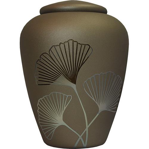 Glazen Urn Brons - Ginkgo Bladeren (4 liter)