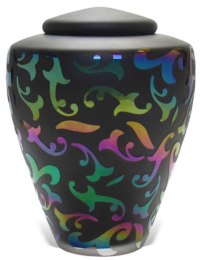 Glazen Urn Regenboog Sierblad (4.4 liter)