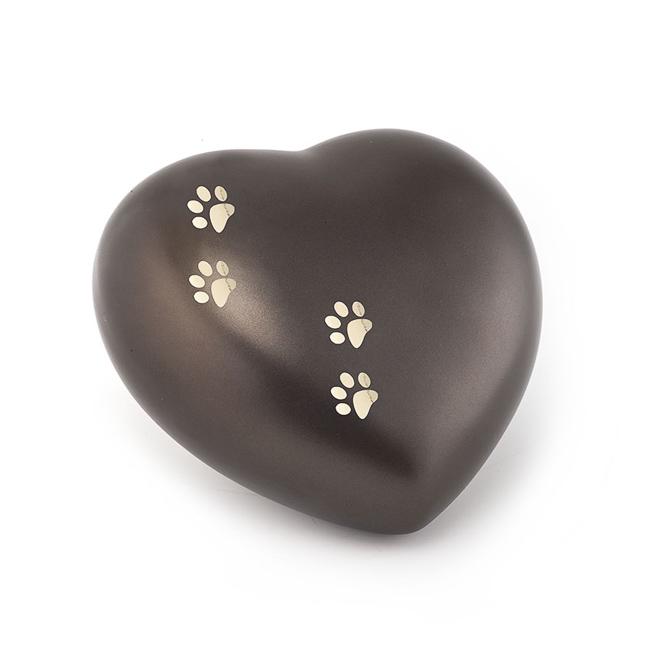 Middelgrote Dieren Hart Urn Chocolade Vier Pootjes (1.5 liter)