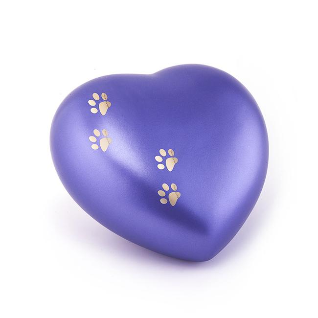 Middelgrote Dieren Hart Urn Violet Vier Pootjes (1.5 liter)