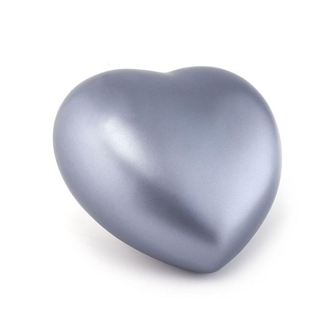 Middelgrote Dieren Hart Urn Staalkleurig (1.5 liter)