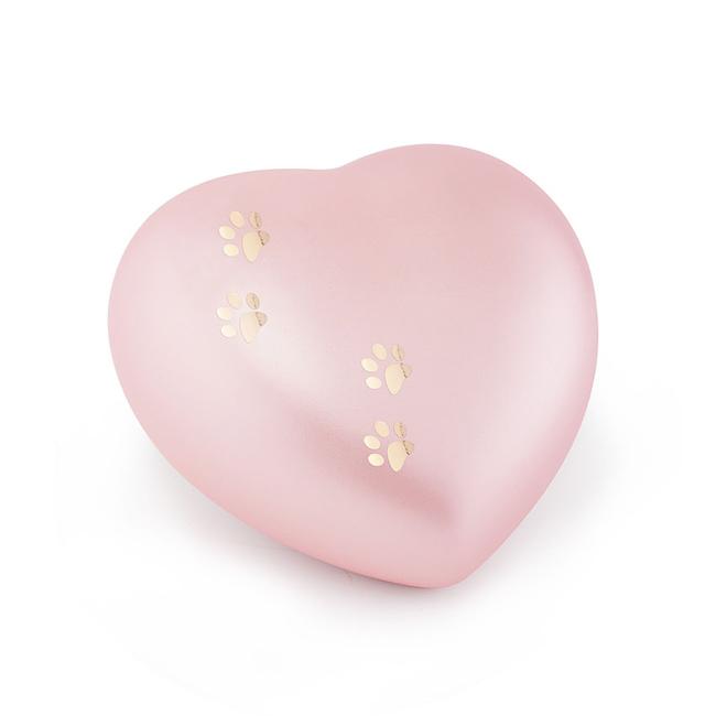 Middelgrote Dieren Hart Urn Roze Vier Pootjes (1.5 liter)