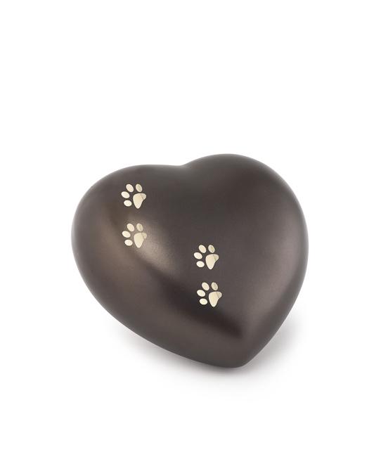 Kleine Dieren Hart Urn Chocolade Vier Pootjes (0.5 liter)