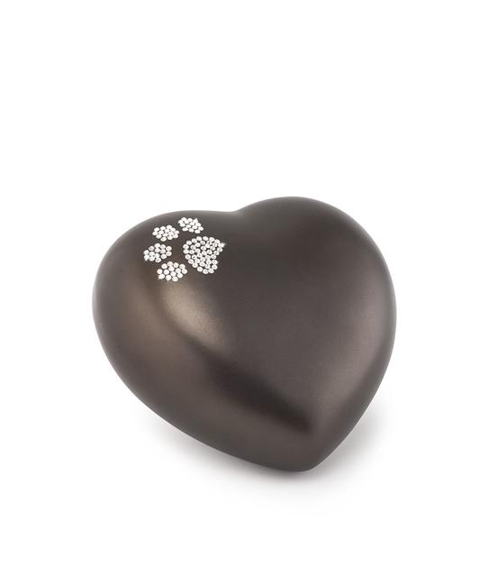 Kleine Dieren Hart Urn Chocola Swarovski Pootje (0.5 liter)