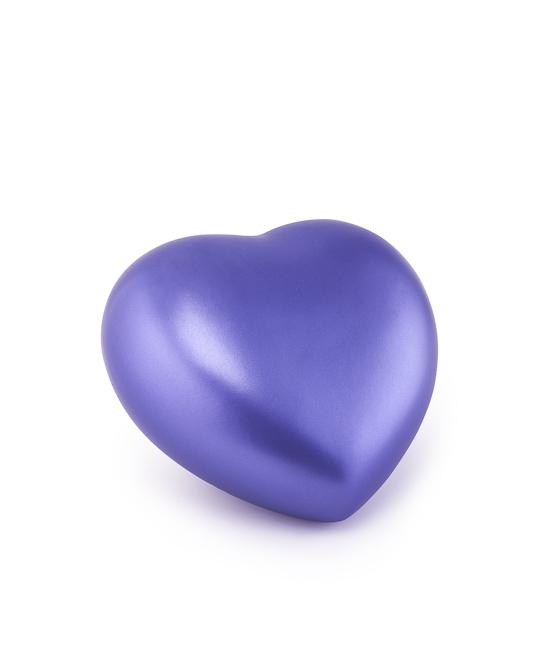 Kleine Hart Urn Violet (0.5 liter)