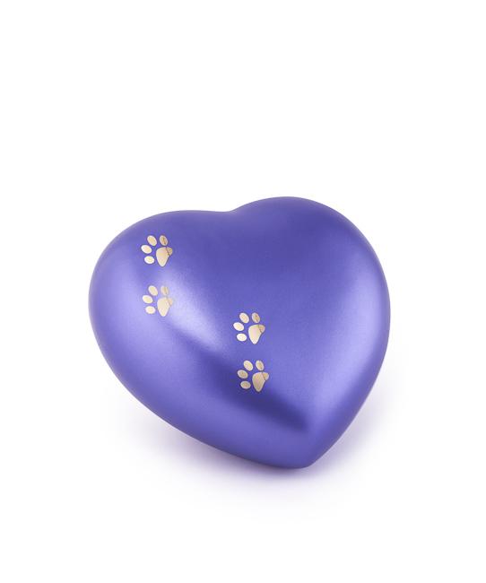 Kleine Dieren Hart Urn Violet Vier Pootjes (0.5 liter)