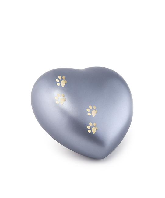 Kleine Dieren Hart Urn Staalkleurig Vier Pootjes (0.5 liter)