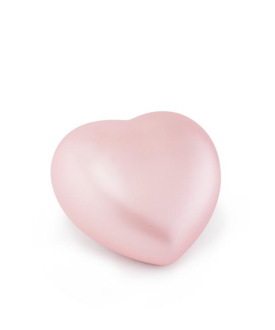 Kleine Dieren Hart Urn Roze (0.5 liter)