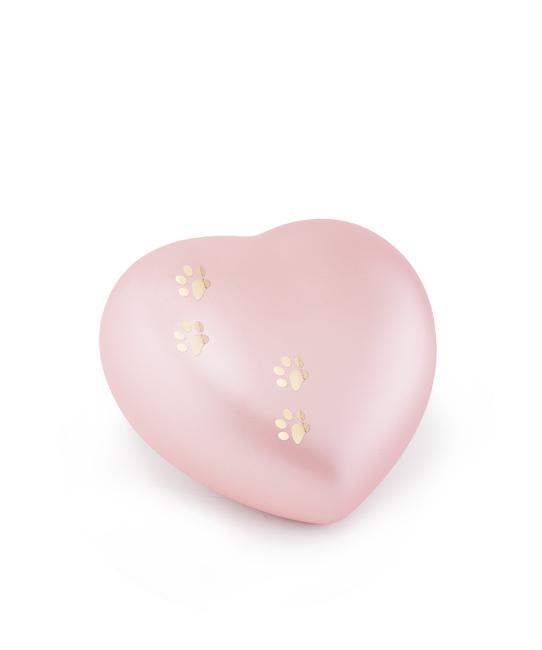 Kleine Dieren Hart Urn Roze Vier Pootjes (0.5 liter)