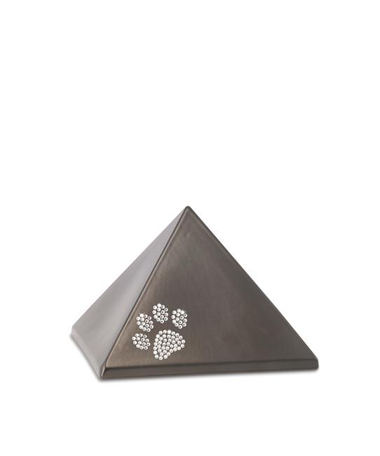 Kleine Piramide Urn Chocola Swarovski Pootje (0.5 liter)