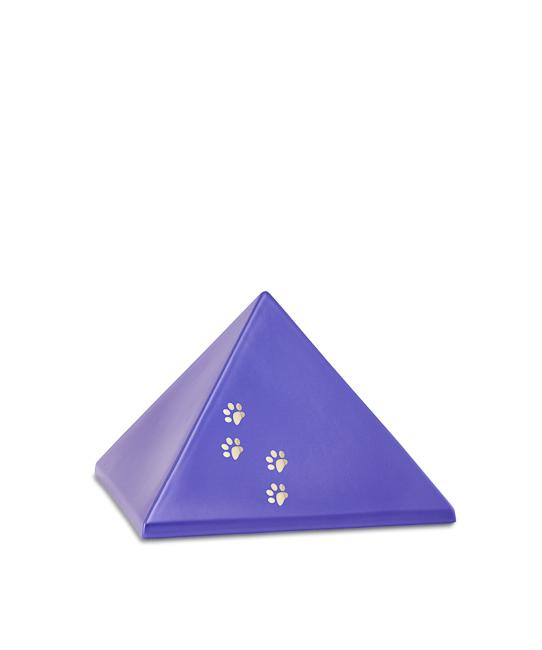 Kleine Piramide Urn Violet Vier Pootjes (0.5 liter)