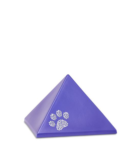 Kleine Piramide Urn Violet Swarovski Pootje (0.5 liter)