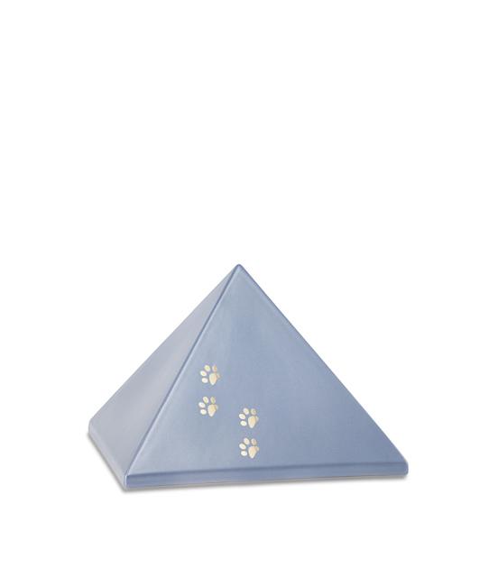 Kleine Piramide Urn Staalkleurig Vier Pootjes (0.5 liter)