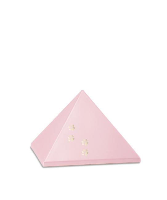 Kleine Piramide Urn Roze Vier Pootjes (0.5 liter)
