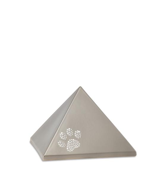 Kleine Piramide Urn Fumé Swarovski Pootje (0.5 liter)