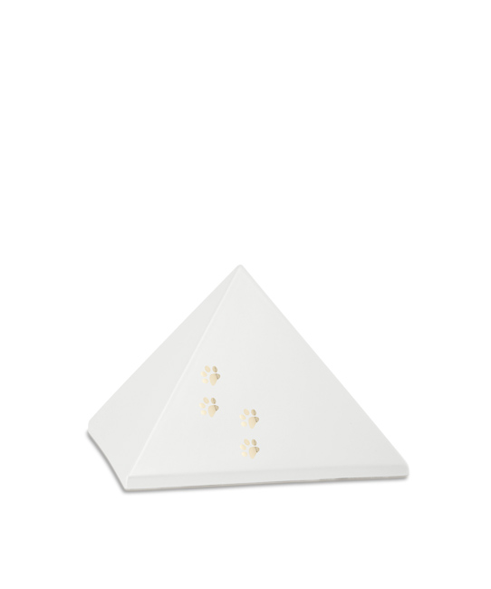 Kleine Piramide Urn Parelmoer Vier Pootjes (0.5 liter)