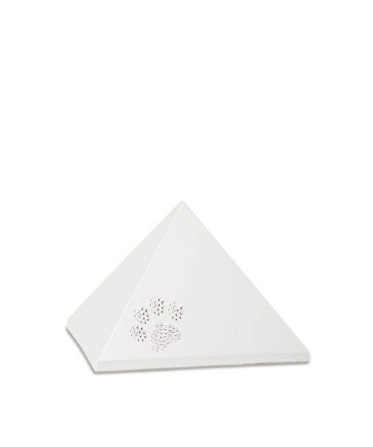 Kleine Piramide Urn Parelmoer Swarovski Pootje (0.5 liter)