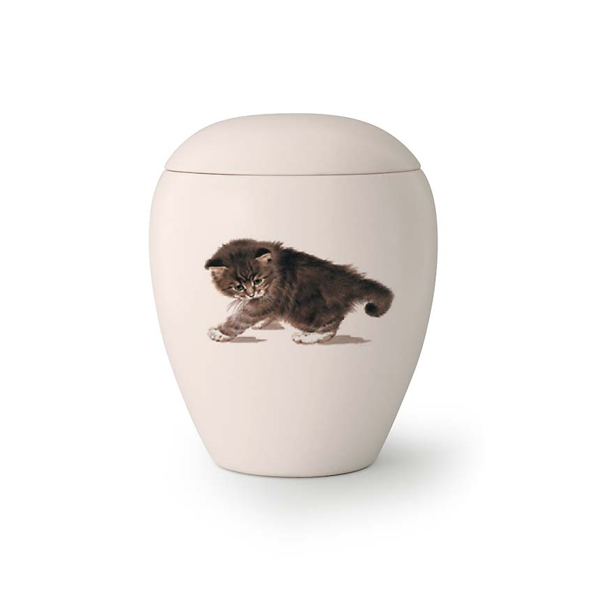 Mini Katten Urn Fluffy (0.15 liter)