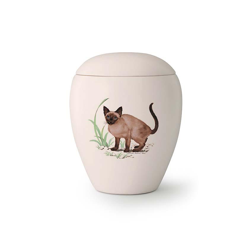 Mini Katten Urn Siam (0.15 liter)