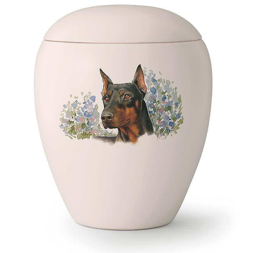 Grote Honden Urn Dobermann Staande Oren (2.8 liter)