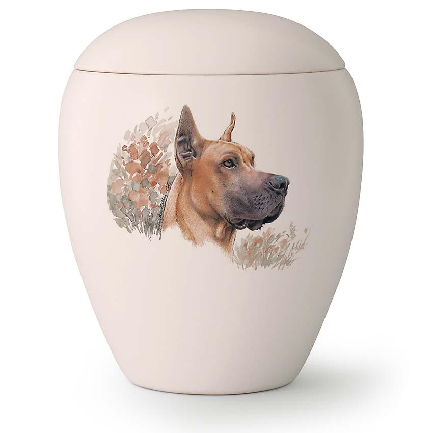 Grote Honden Urn Deense Dog Staande Oren (2.8 liter)