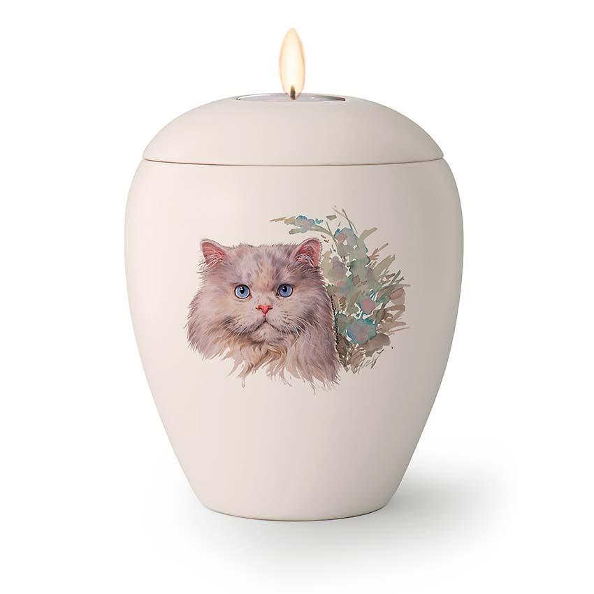 Kaarshouder Katten Urn Puck (0.5 liter)