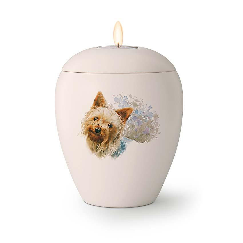 Kaarshouder Urn Yorkshire Terrier (0.5 liter)