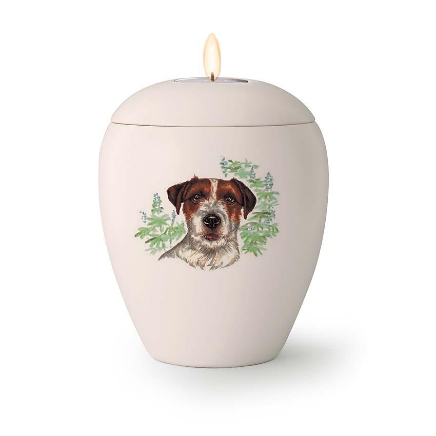 Kleine Honden Urn Jack Russel (0.5 liter)