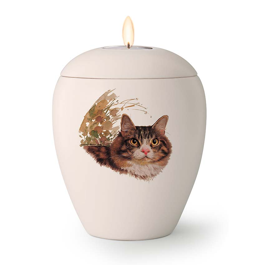 Kaarshouder Katten Urn Luna (0.5 liter)