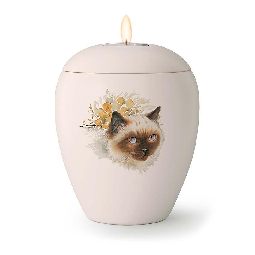 Kaarshouder Katten Urn Coco (0.5 liter)