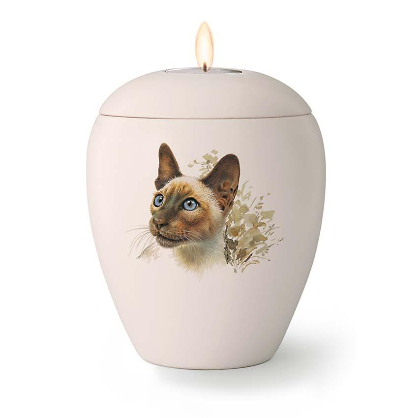Kaarshouder Katten Urn Tommy (0.5 liter)