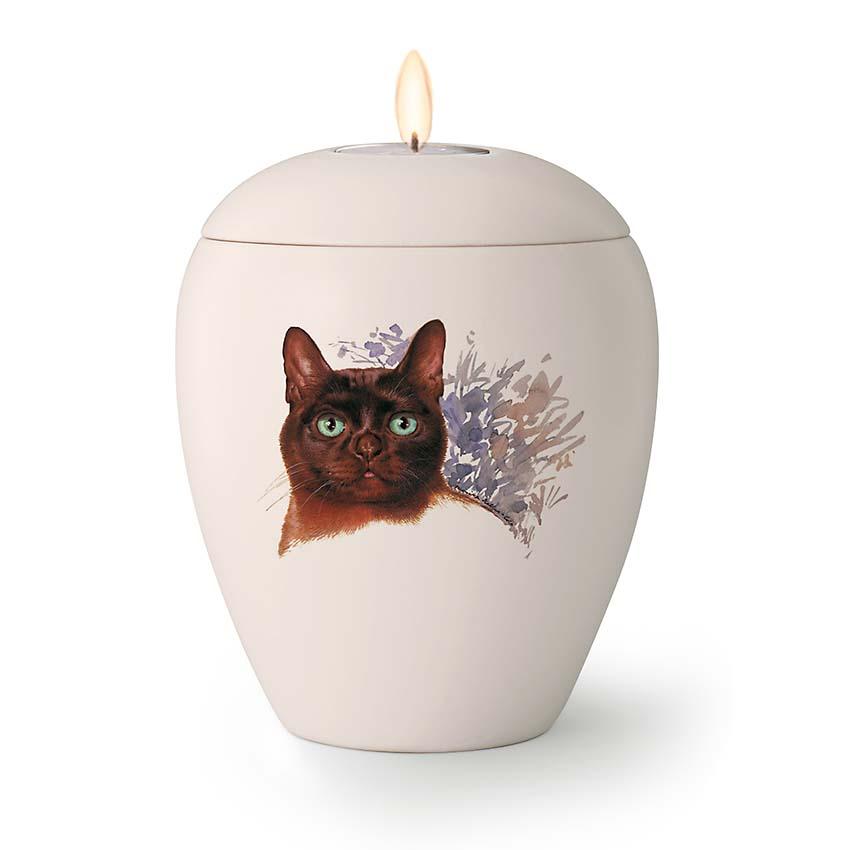 Kaarshouder Katten Urn Felix (0.5 liter)