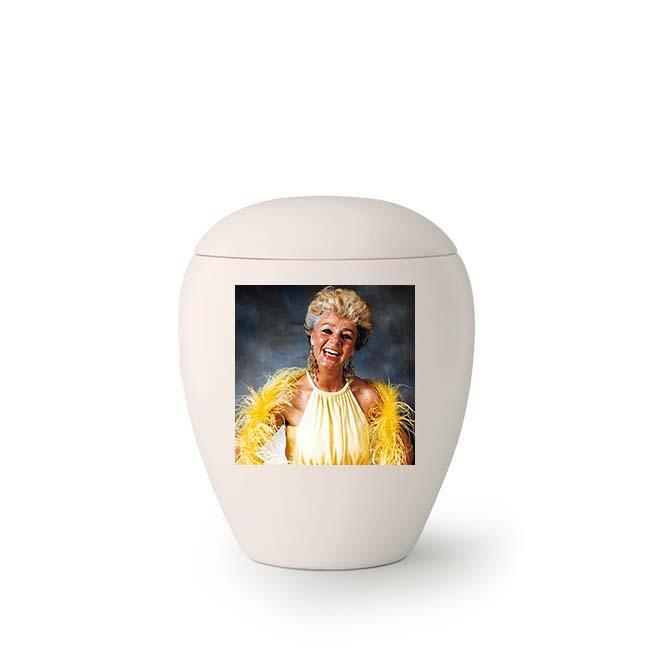Kleine Keramische Urn met Eigen Foto (0.5 liter)