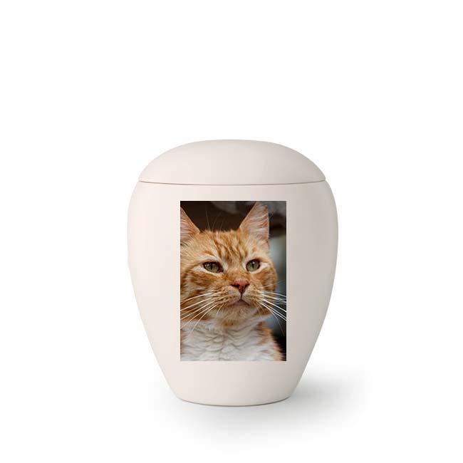 Mini Keramische Foto Urn, met Eigen Kat (0.15 liter)