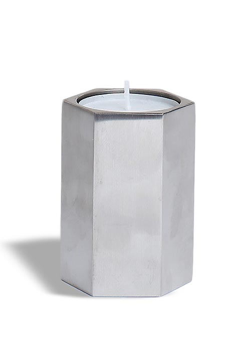 Urn met Waxinelichtje RVS-look (0.2 liter)