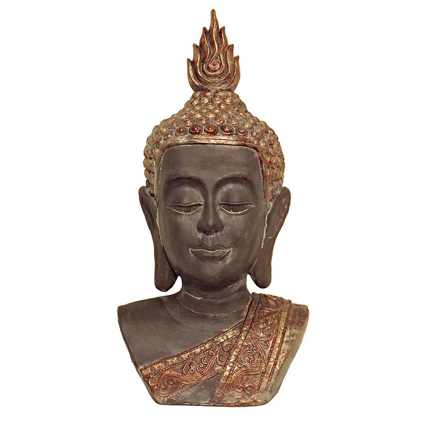 XL Thaise Boeddha Buste Urn (9 liter, geschikt als duo urn)