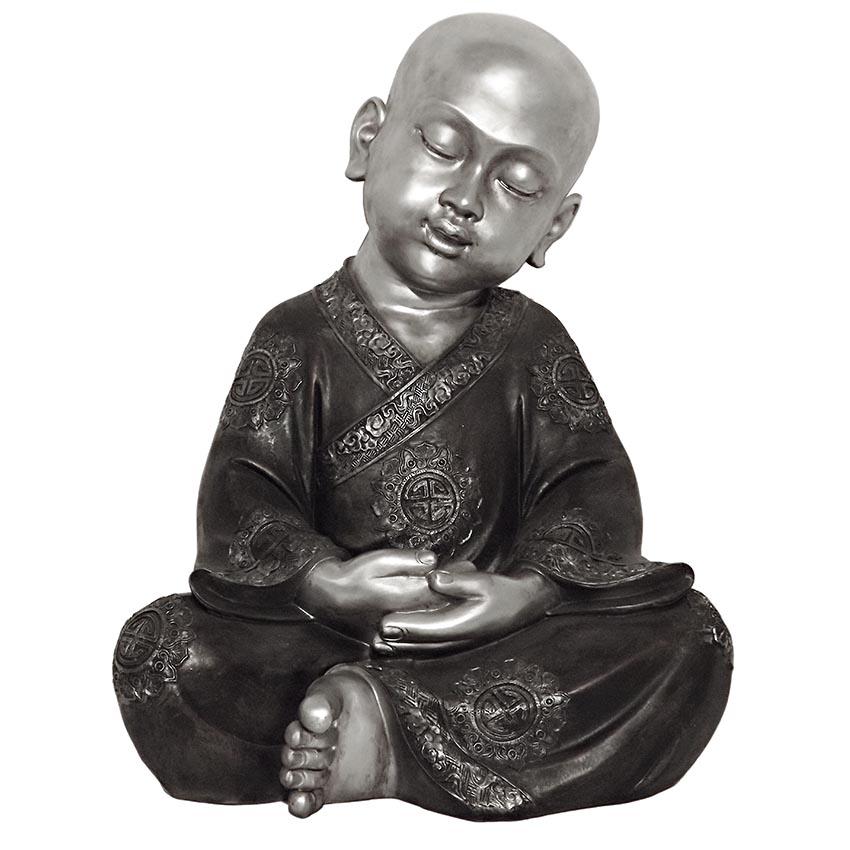 XXL Buddha Urn Mediterende Shaolin Monnik (ca. 14 liter)