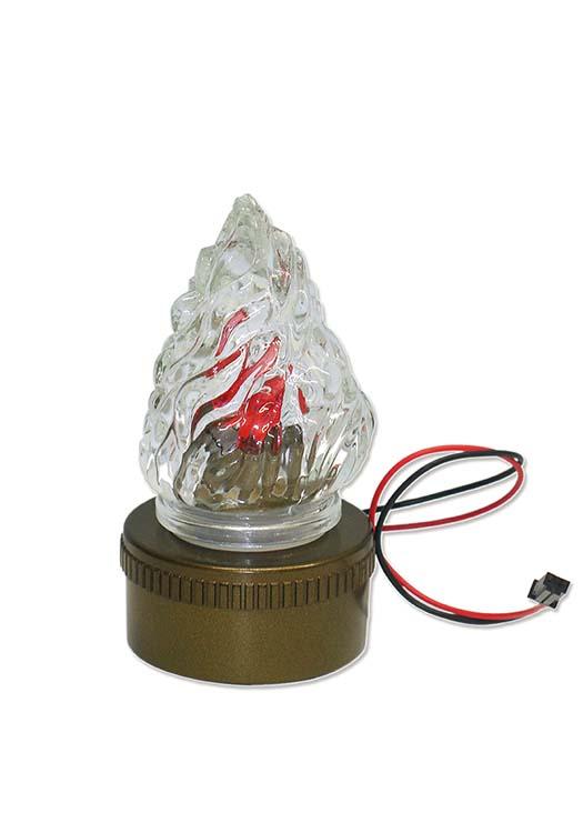 Accu met Lamp voor in Solar-Graflantaarn