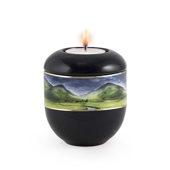 Zwart Waxinelicht Urntje Bergbeek (0.3 liter)