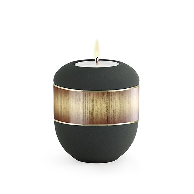 Antraciet Waxinelicht Urntje Sunburst (0.3 liter)