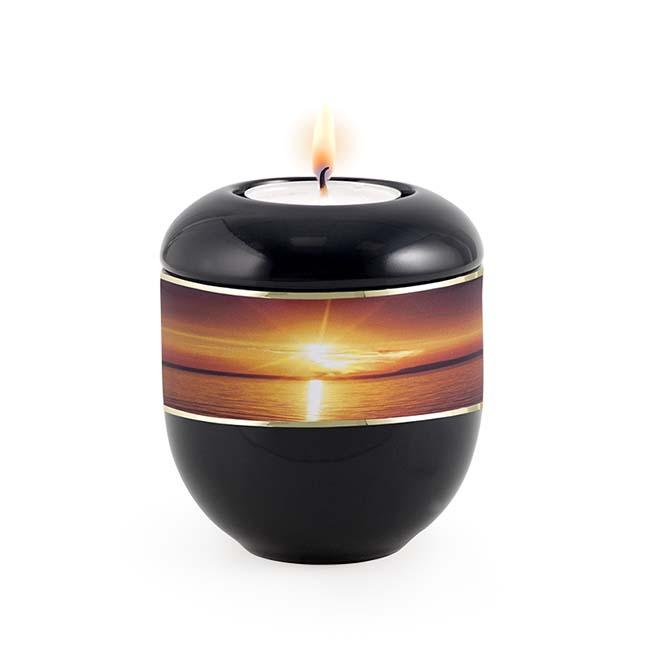 Zwart Waxinelicht Urntje Zonsondergang (0.3 liter)